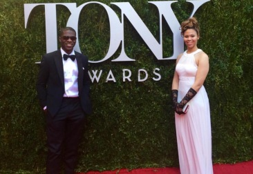 At the Tony Awards thanks to a Harold Washington Cultural Center sponsorship for its brightest theater students