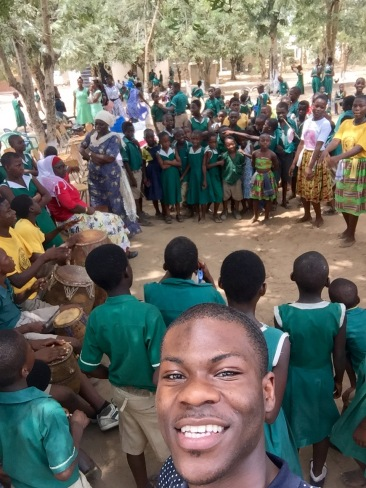 At a school in Elmina, Ghana with 24 WVON listeners during my annual trip